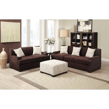 Bobkona Barrie Microsuede Sofa and Loveseat Set