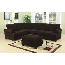 Bobkona Reversible Chaise Sectional