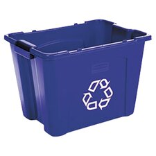14-Gal Stacking Rectangular Curbside Recycling Bin