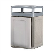 Keystone 48-Gal Concrete Weather Urn and Trash Receptacle with Side Door