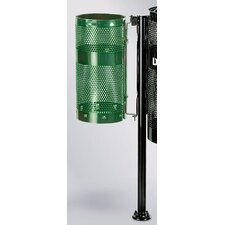 10-Gal Howard Towne Perforated Steel Pole/Wall Mount Receptacle