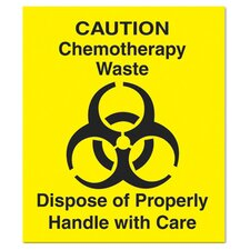 "Medical Decal ""Chemotherapy Waste"" in Yellow"