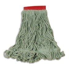 Large Super Stitch Blend Cotton/Synthetic Mop Heads in Green