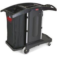 Compact Folding Housekeeping Cart