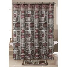Patchwork 13 Piece Shower Curtain Set