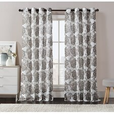 Amore Drape Print Single Curtain Panel