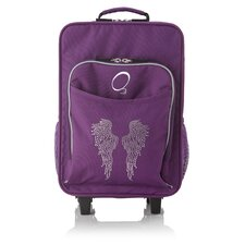 Kids Bling Rhinestone Angel Wings Luggage with Integrated Cooler