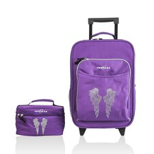 Kids Angel Wings 2 Piece Suitcase and Toiletry Bag Set
