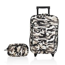 Kids Camo 2 Piece Suitcase and Toiletry Bag Set