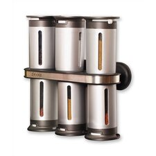 Zero Gravity Wall Mounted Magnetic 7 Piece Spice Tower Set