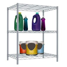 Wire Three Shelf Shelving Unit
