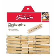 Wooden Clothespin (Pack of 50)