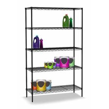 Wire Five Shelf Shelving Unit