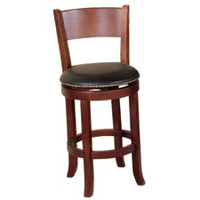 "Cappuccino 24"" Swivel Bar Stool with Cushion"