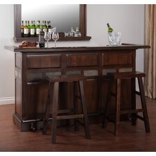 Santa Fe Bar Set with Wine Storage