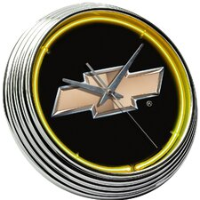 "Chevrolet 14.75"" Bowtie Neon Wall Clock"