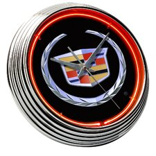 Cadillac Crest Neon Clock