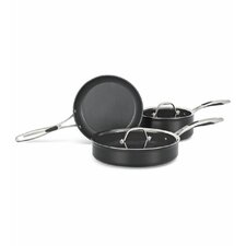 Hard Anodized Nonstick 3-Piece Cookware Set