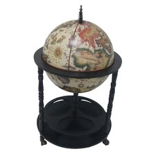 Firenze Italian Style 4 Leg Floor Globe Bar