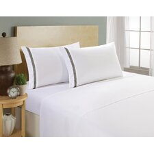 Hotel Chevron Double Brushed Sheet Set
