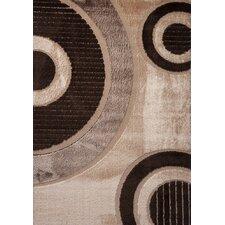 Contempo Circle Brown/Tan Area Rug