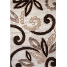 Contempo Spiral Brown/Tan Area Rug