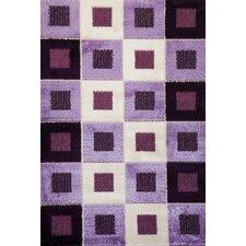 Signature Checkered Purple Area Rug