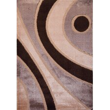 Contempo Modern Brown/Tan Area Rug