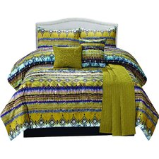 Morroco 6 Piece Comforter Set in Blue