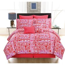 Tangiers 8 Piece Comforter Set in Red