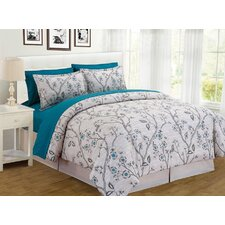 Branch Floral 8 Piece Bed in a Bag Set