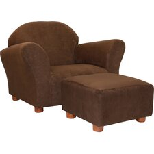 Roundy Microsuede Kids' Novelty Chair & Ottoman Set