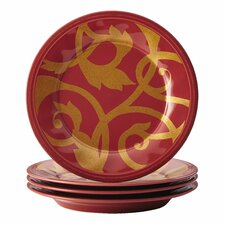 """Gold Scroll 8"""" Salad Plate (Set of 4)"""