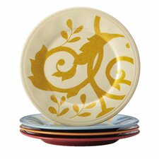 "Gold Scroll 6"" Appetizer Plate (Set of 4)"