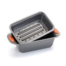 Yum-O Nonstick 2 Piece Meat Loaf Pan Set