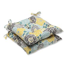 Full Bloom Outdoor Dining Chair Cushion (Set of 2)