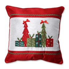 Christmas Trees and Presents Throw Pillow