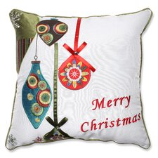 Merry Christmas Ornaments Throw Pillow