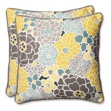 Full Bloom Indoor/Outdoor Throw Pillow (Set of 2)