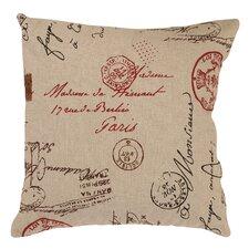 French Postale Throw Pillow