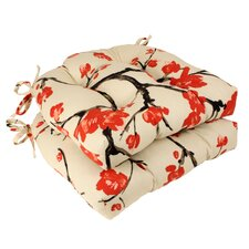 Flowering Outdoor Chair Cushion (Set of 2)