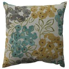 Luxury Floral Cotton Throw Pillow