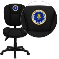 Personalized Mid-Back Black Multi-Functional Ergonomic Task Chair