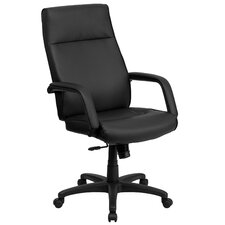 High-Back Leather Executive Chair with Memory Foam Padding
