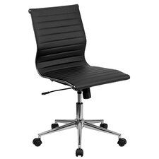 Adjustable Mid-Back Leather Office Chair
