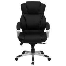 High-Back Contemporary Executive Chair with Designer Loop Arms