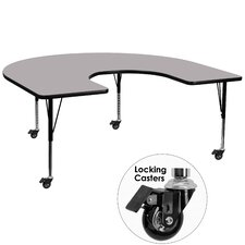 """Mobile 66"""" x 60"""" Kidney Classroom Table"""
