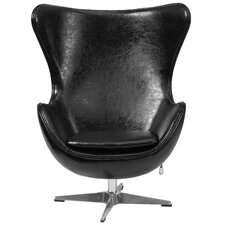Leather Tilt-Lock Mechanism Lounge Chair