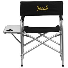 Embroidered Aluminum Folding Camping Chair