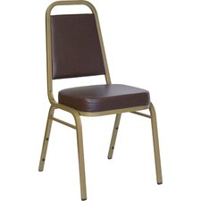 "2.5"" Hercules Series Trapezoidal Back Stacking Banquet Chair with Silver Vein Frame"